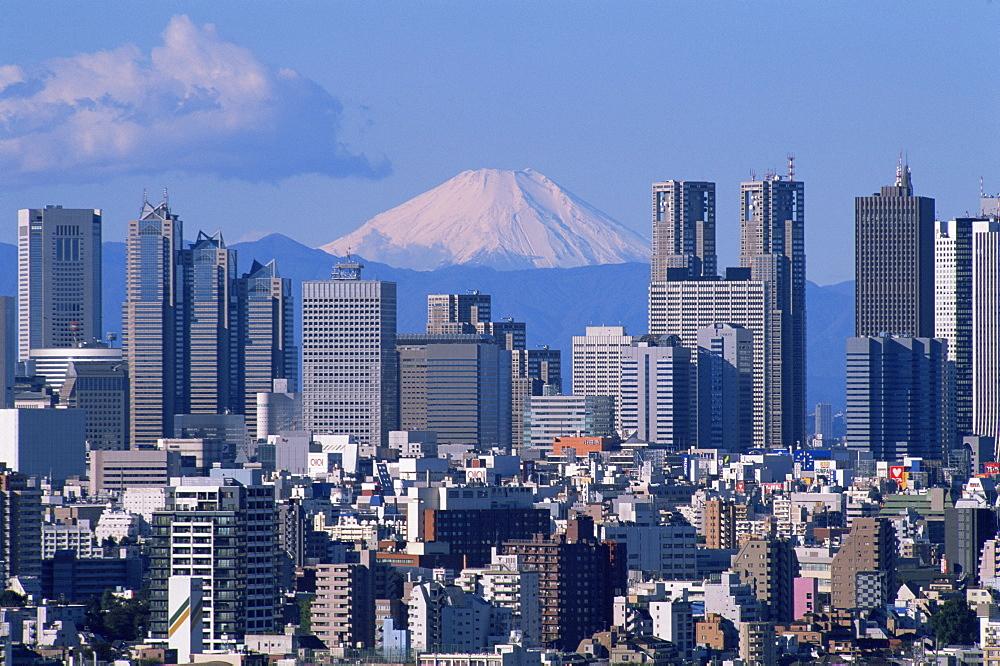 Mount Fuji and Shinjuku area skyline, Tokyo, Japan, Asia - 834-5322