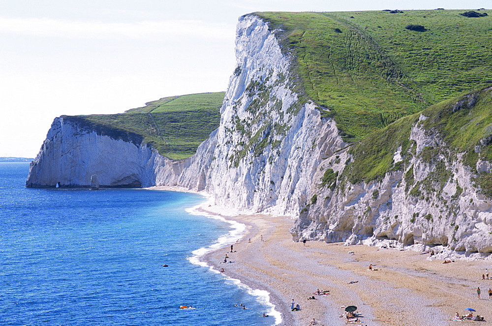 Durdle Door Beach, Dorset, Jurassic Coast, UNESCO World Heritage Site, England, United Kingdom, Europe
