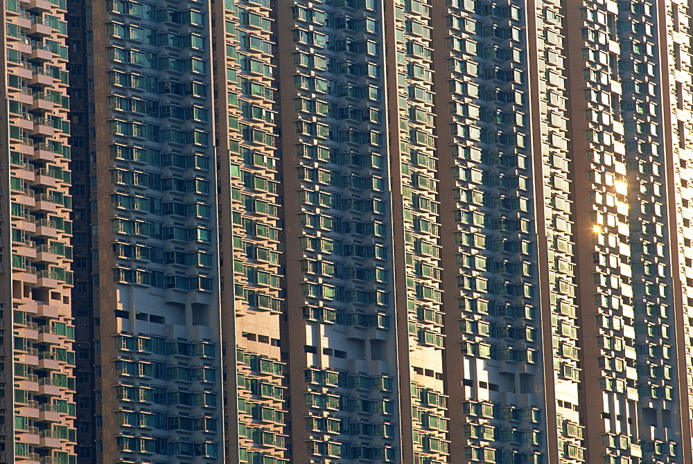 Typical new town housing high rise apartment complex,Tung Chung, Lantau, Hong Kong, China, Asia - 834-5795