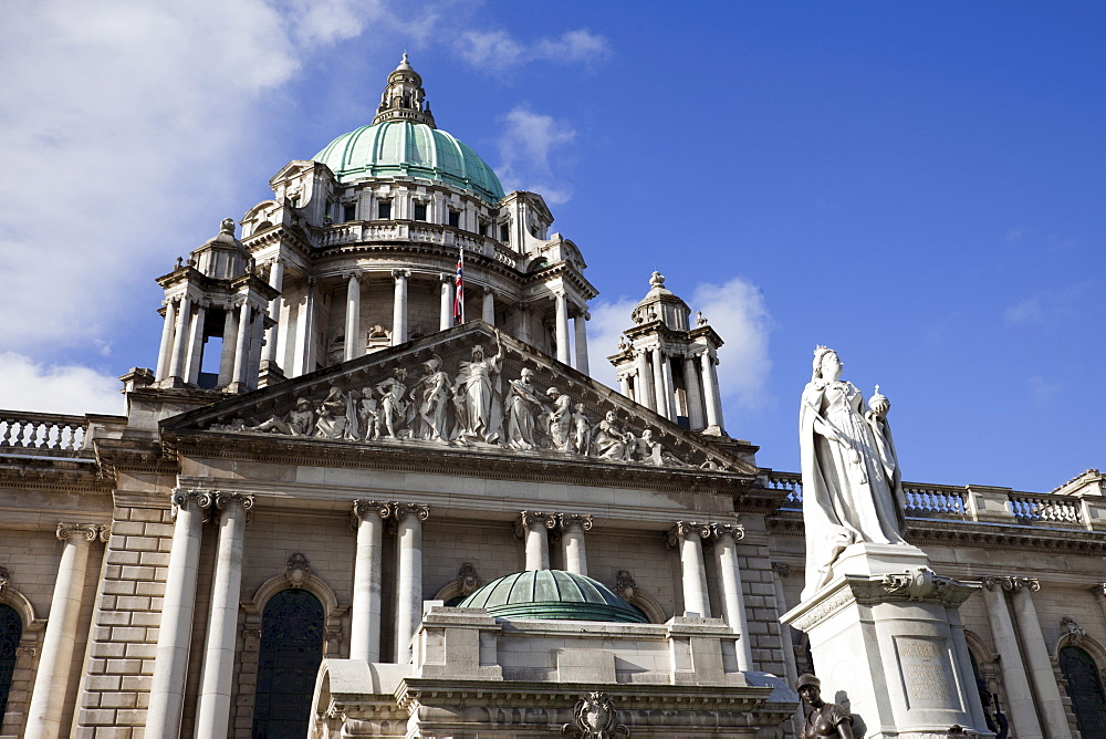 Belfast City Hall, Donegall Square, Belfast, Ulster, Northern Ireland, United Kingdom, Europe