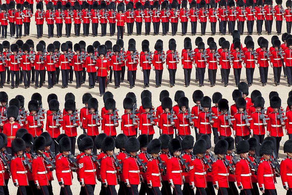 Trooping the Colour Ceremony at Horse Guards Parade, Whitehall, London, England, United Kingdom, Europe - 834-6204