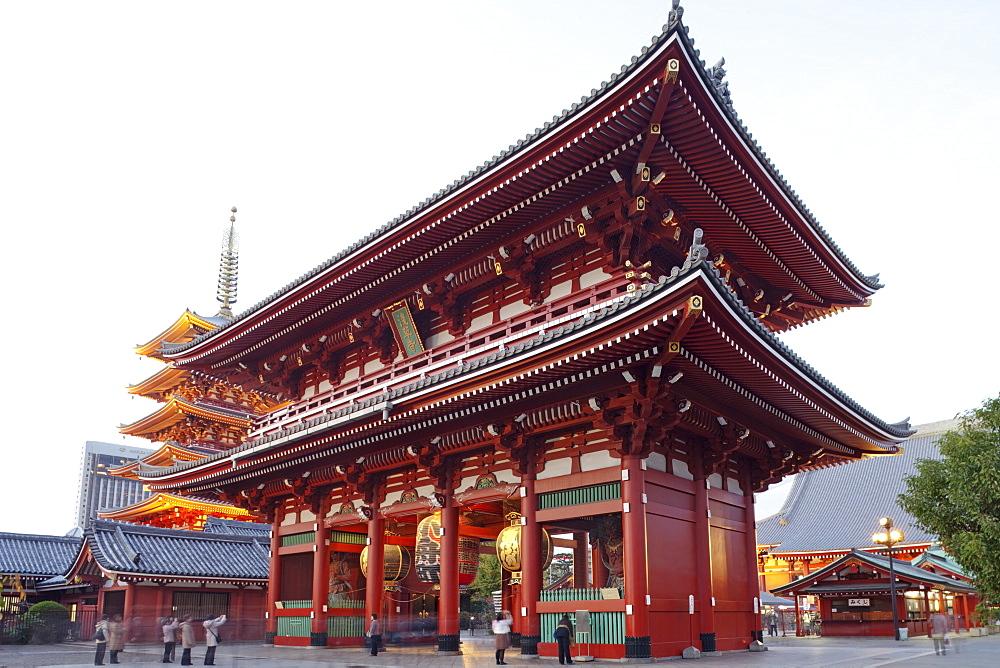 Hozomon Gate, Asakusa Kannon Temple, Asakusa, Tokyo, Japan, Asia