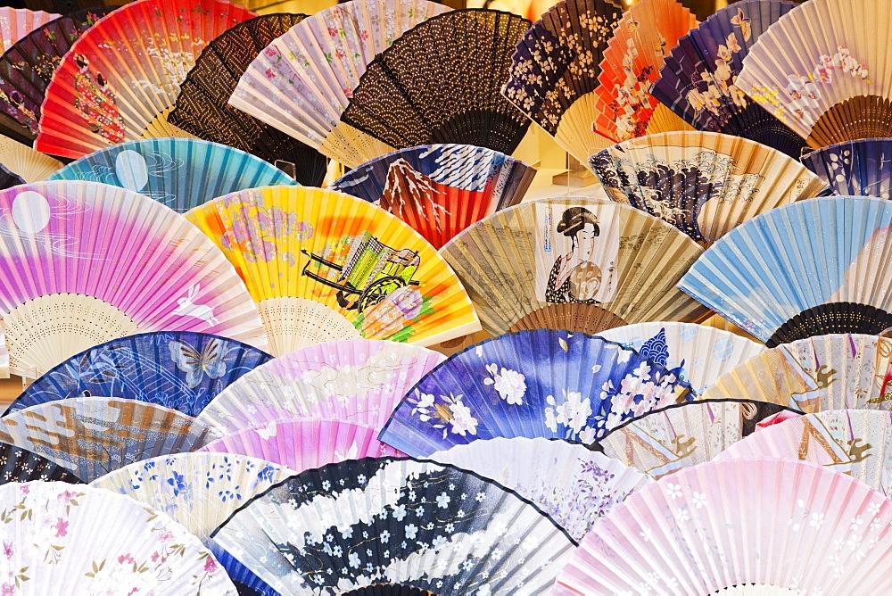 Fan shop display, Higashiyama, Kyoto, Japan, Asia - 834-6539