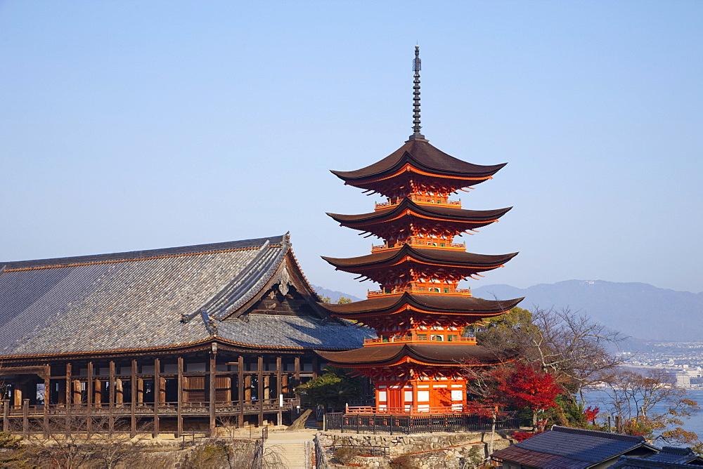 The Five-Storied Pagoda, Hokoku Shrine, Miyajima Island, Japan, Asia