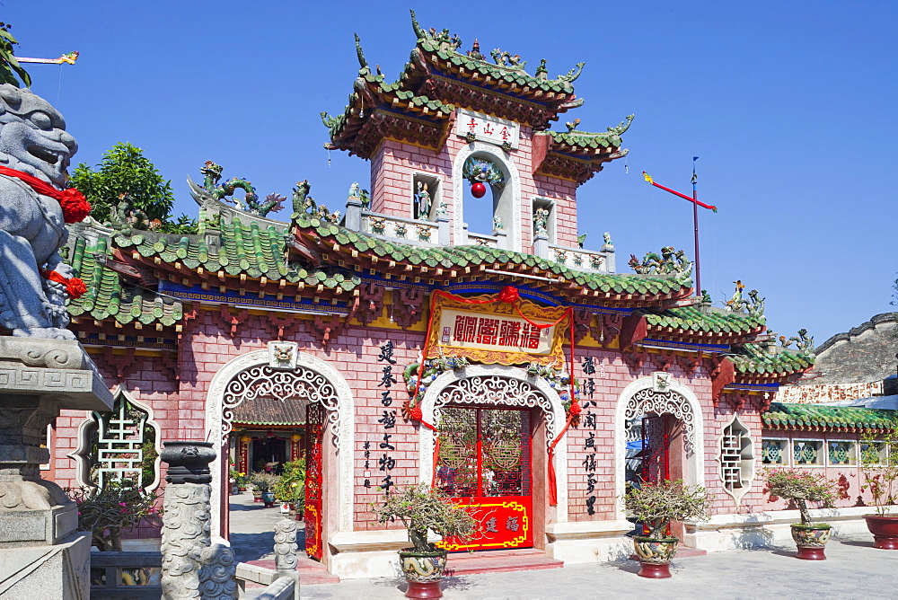 Entrance gate, Phuc Kien Assembly Hall, Hoi An, Vietnam, Indochina, Southeast Asia, Asia
