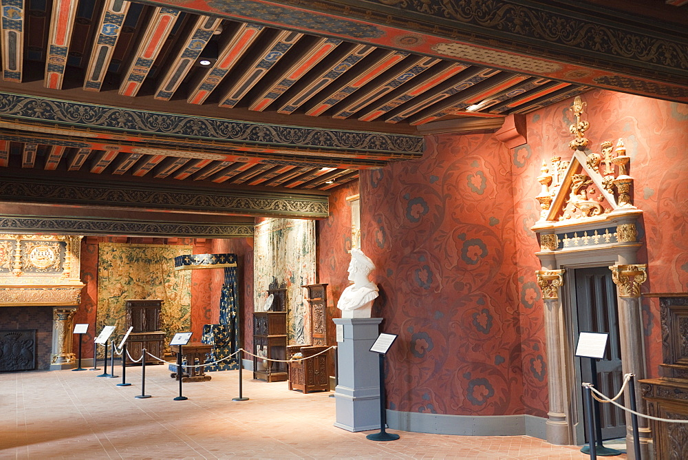 Kings Gallery, The Kings' Apartments, Chateau de Blois, UNESCO World Heritage Site, Blois, Loir et Cher, Loire Valley, France, Europe