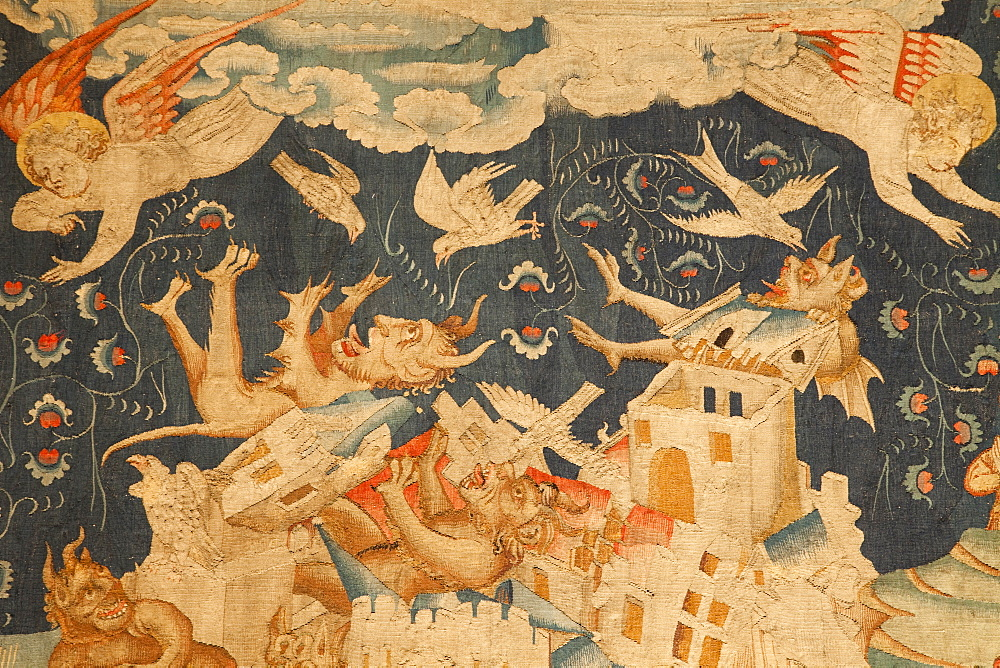 The Apocalypse Tapestry, Angers Castle, Maine et Loire, Loire Valley, France, Europe