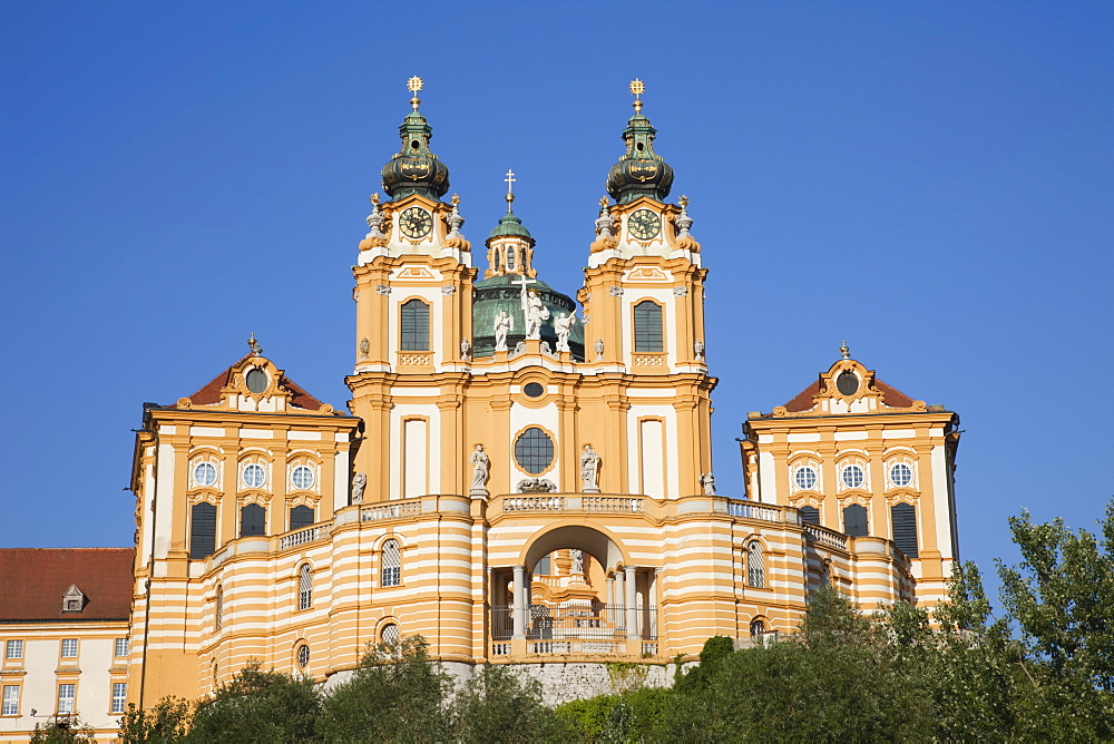 The Benedictine Abbey, Melk, Wachau Cultural Landscape, UNESCO World Heritage Site, Austria, Europe - 834-7143