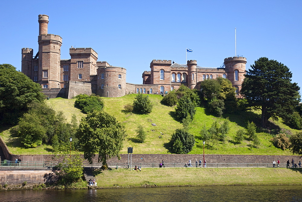 River Ness and Inverness Castle, Inverness, Highlands, Scotland, United Kingdom, Europe - 834-7209