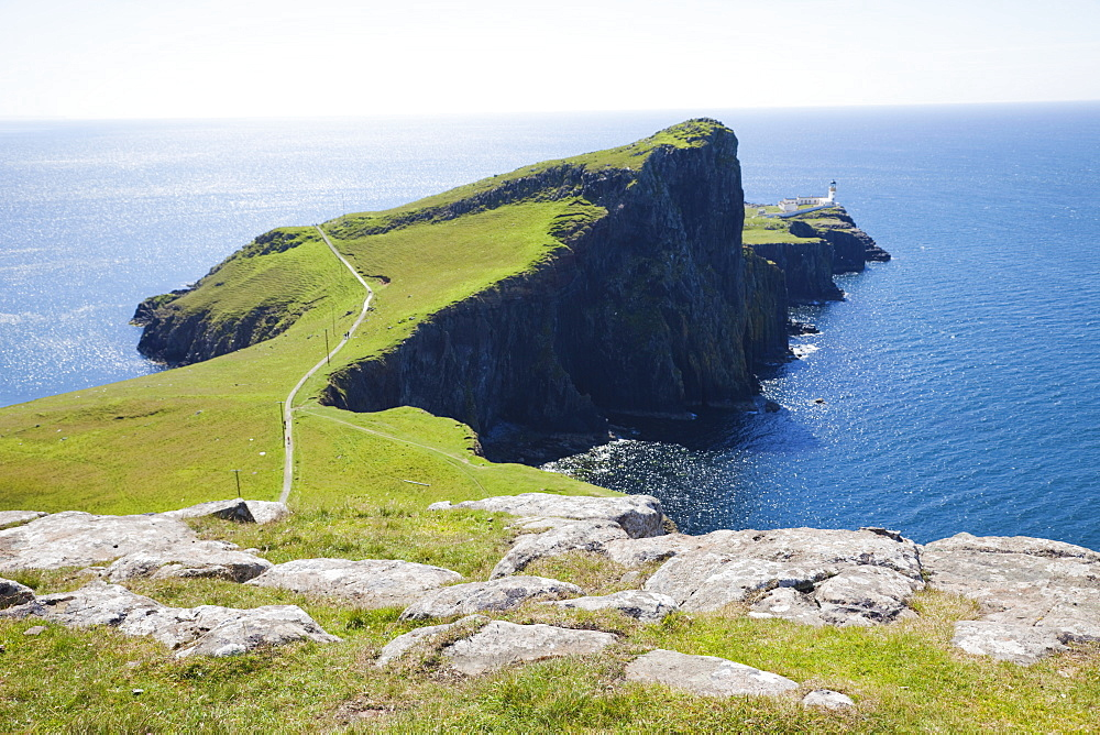 Neist Point Lighthouse, Isle of Skye, Inner Hebrides, Scotland, United Kingdom, Europe - 834-7232