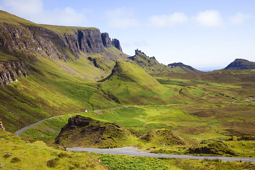 The Quiraing mountain, Isle of Skye, Inner Hebrides, Scotland, United Kingdom, Europe - 834-7237