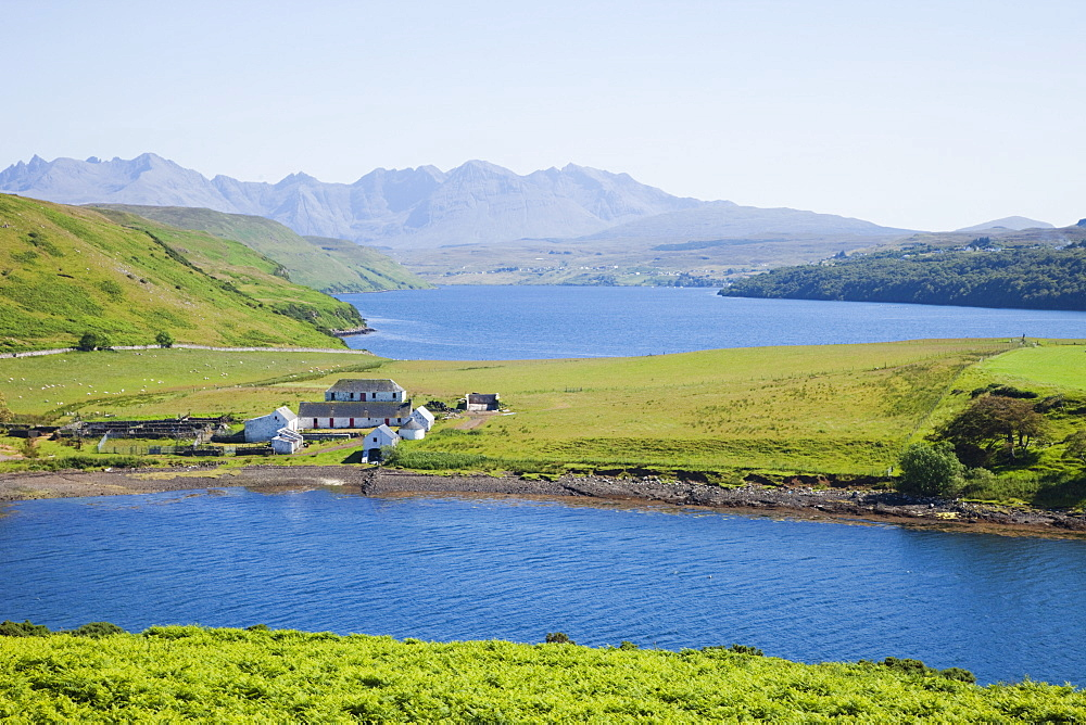 Loch Harport and The Cullin Mountains, Isle of Skye, Inner Hebrides, Scotland, United Kingdom, Europe - 834-7244