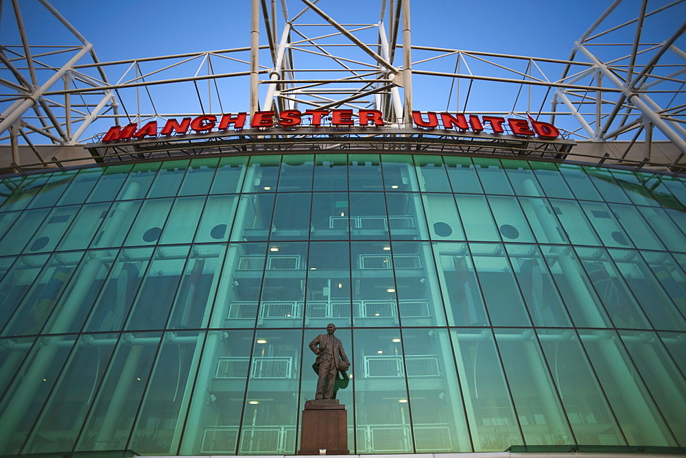 Old Trafford Soccer Stadium. Salford, Manchester, England, United Kingdom, Europe