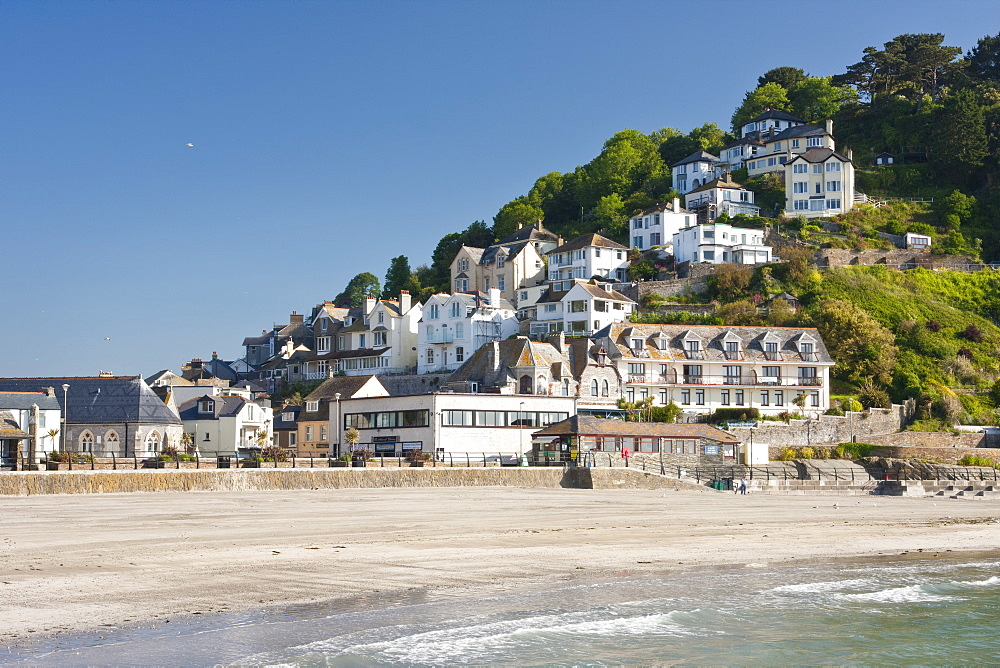 Looe Beach in Looe, Cornwall, England, United Kingdom, Europe - 835-11