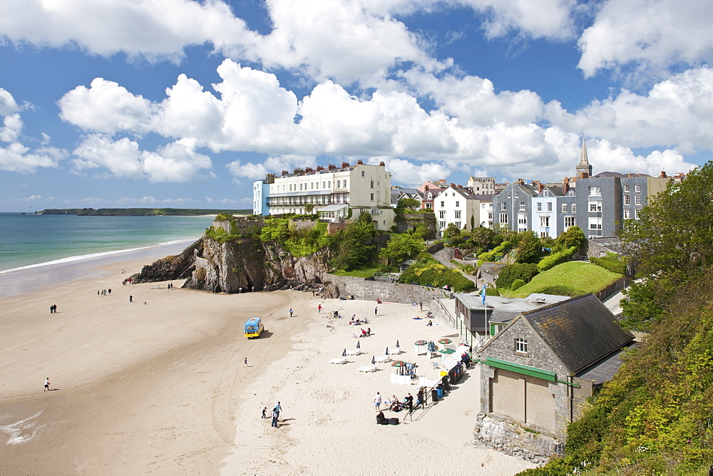 South Beach, Tenby, Pembrokeshire, Wales, United Kingdom, Europe - 835-73