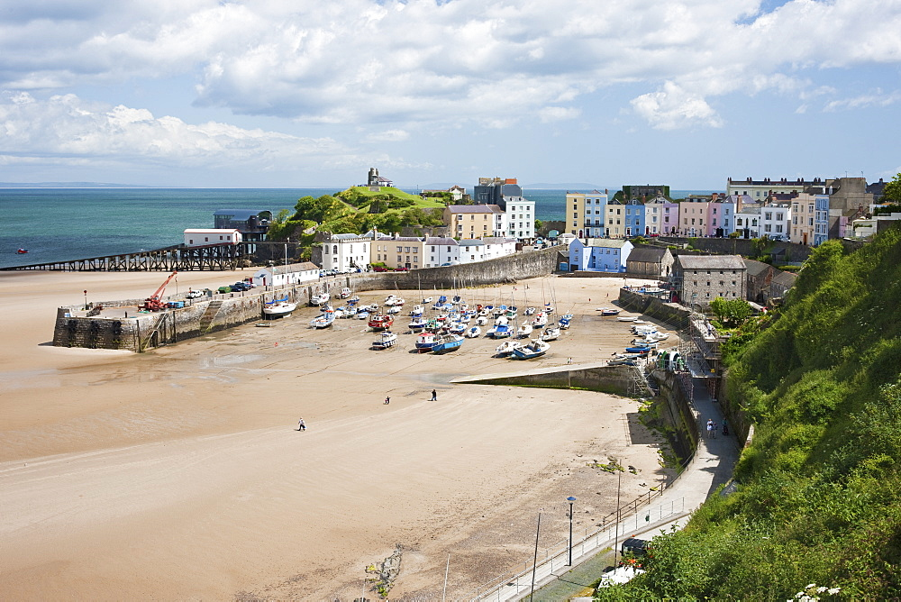Tenby Harbour, Tenby, Pembrokeshire, Wales, United Kingdom, Europe - 835-78