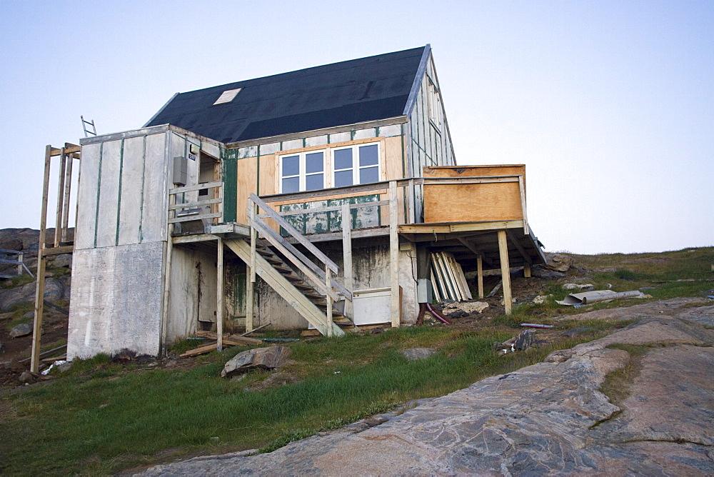 Inuit house, Tasiilaq, East Coast, Greenland, Polar Regions - 836-33