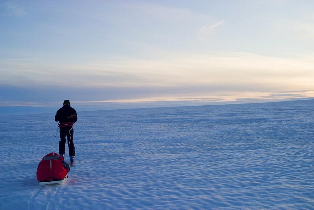 Scene of expedition life on a Polar journey west of Kulusuk, Greenland, Polar Regions - 836-56