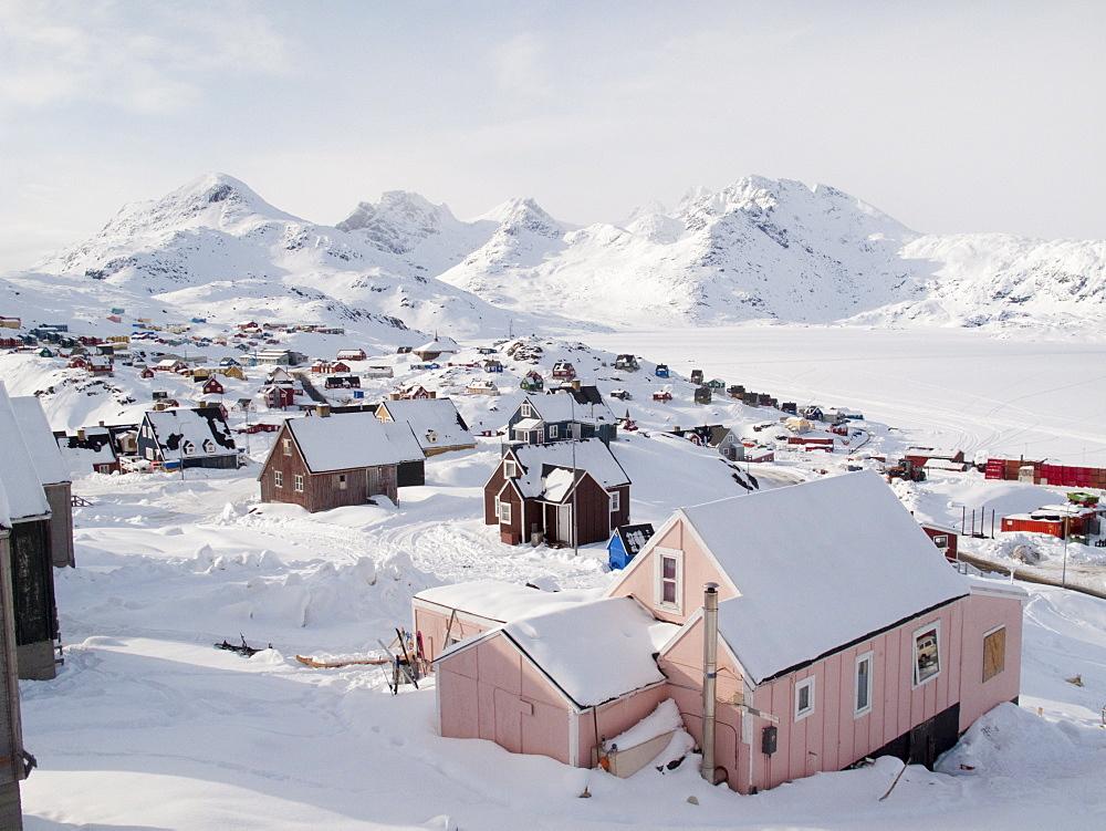 View in Tasiilaq village, East Greenland, Polar Regions - 836-72