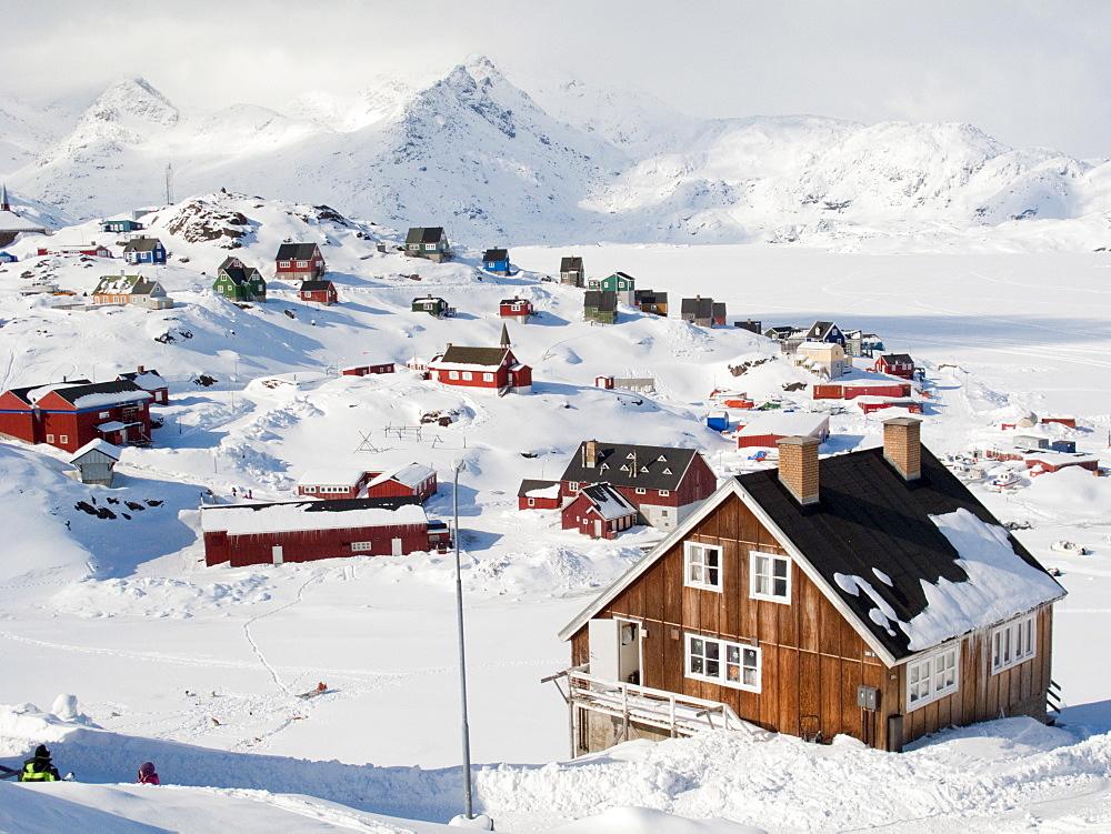 View in Tasiilaq village, East Greenland, Polar Regions - 836-76