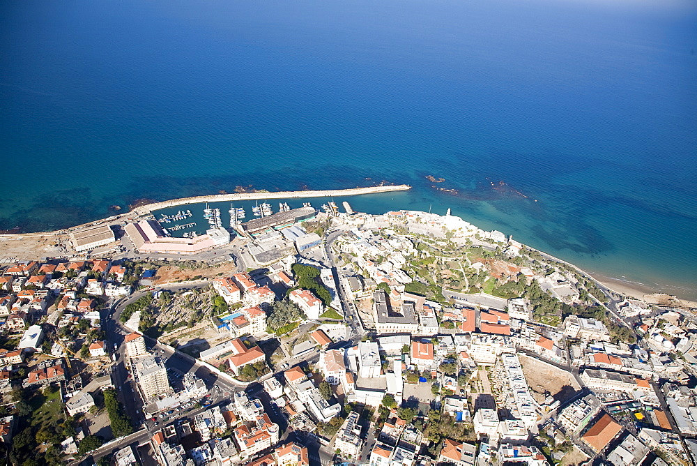 Aerial view of the old city of Jaffa, Israel