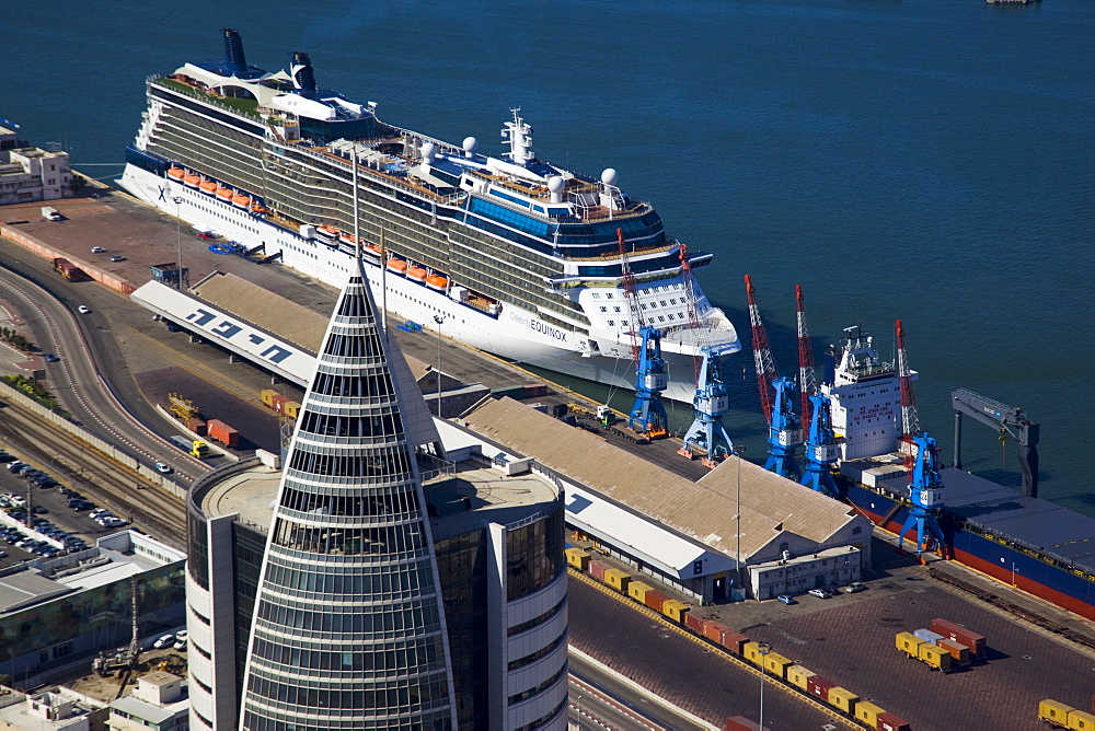 The luxury passenger ship of Celebrity Equinox docking in the port of Haifa - 837-1132
