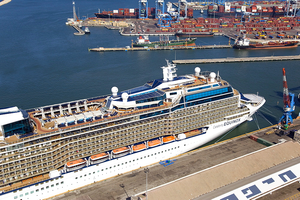 The luxury passenger ship of Celebrity Equinox docking in the port of Haifa - 837-1141