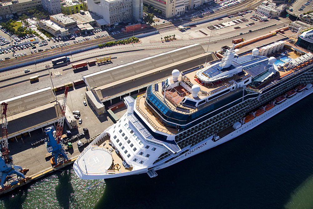 The luxury passenger ship of Celebrity Equinox docking in the port of Haifa - 837-1144
