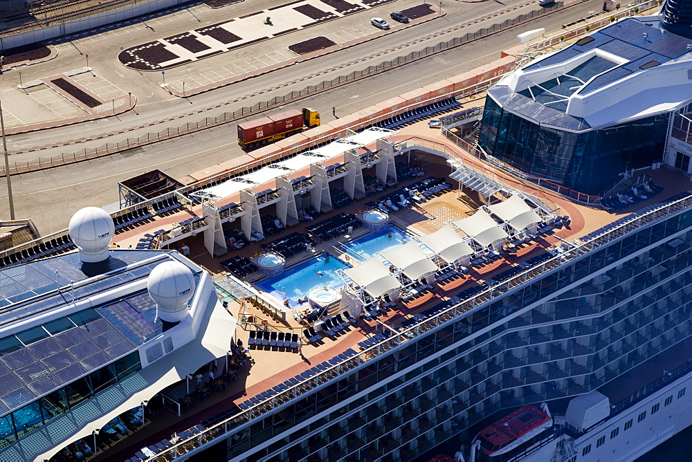 The luxury passenger ship of Celebrity Equinox docking in the port of Haifa - 837-1145