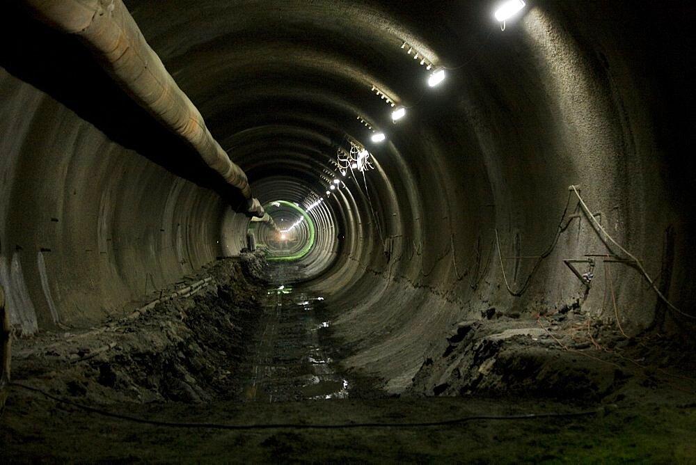 Inside the Carmel Tunnels in Haifa, Israel