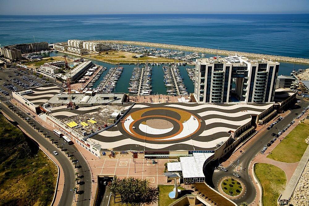 Aerial photograph of Herzeliya's marina, Israel