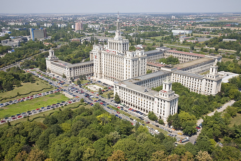 Aerial House of the Free Press of Romania in Bucharest, Romania - 837-306