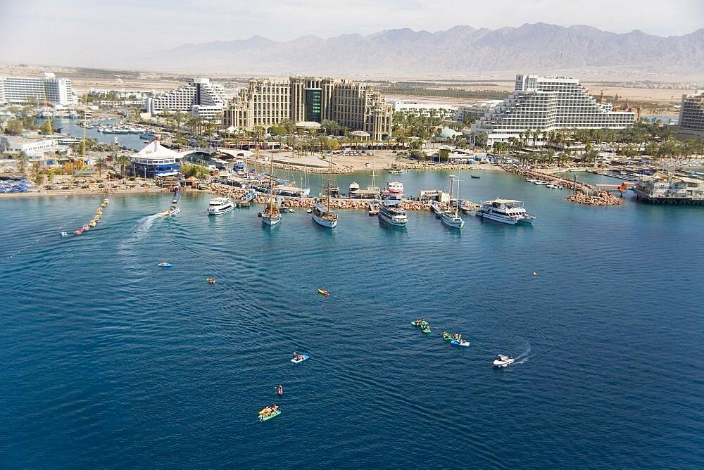 Aerial Marina of Eilat, Israel