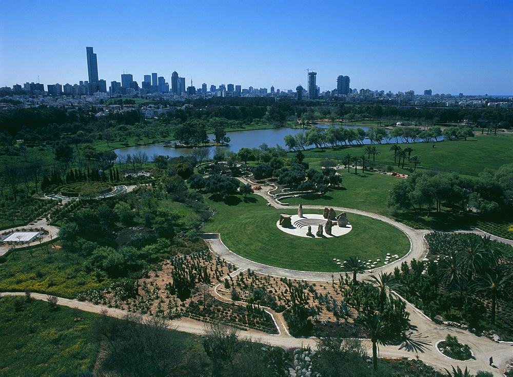 Aerial Yarkon park, Israel