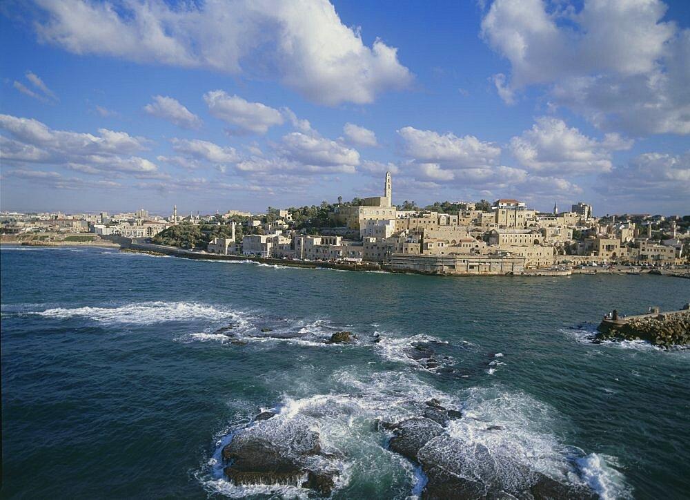 Aerial old city of Jaffa, Israel