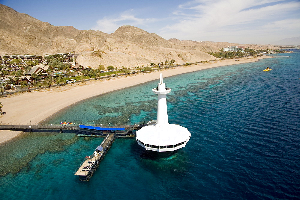 Aerial Underwater Observatory of the city of Eilat, Israel