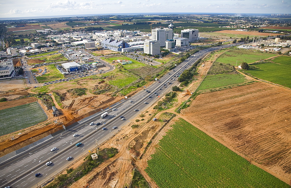 Aerial photograph of the Hi-Tech area of northern Ra'anana, Israel