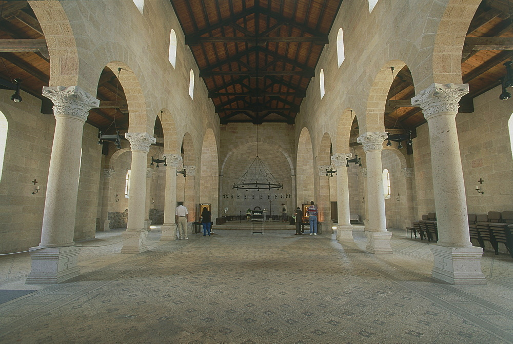 Photograph of the church of Tabgha by the Sea of Galilee, Israel