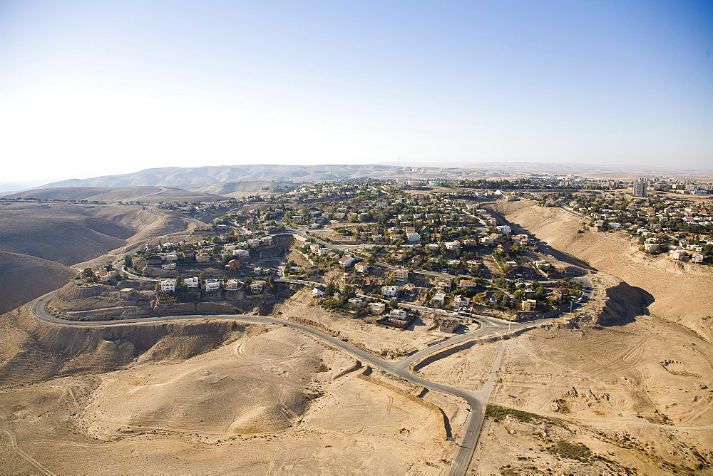 Aerial view of the city of Arad in the northern Negev desert, Israel - 837-999