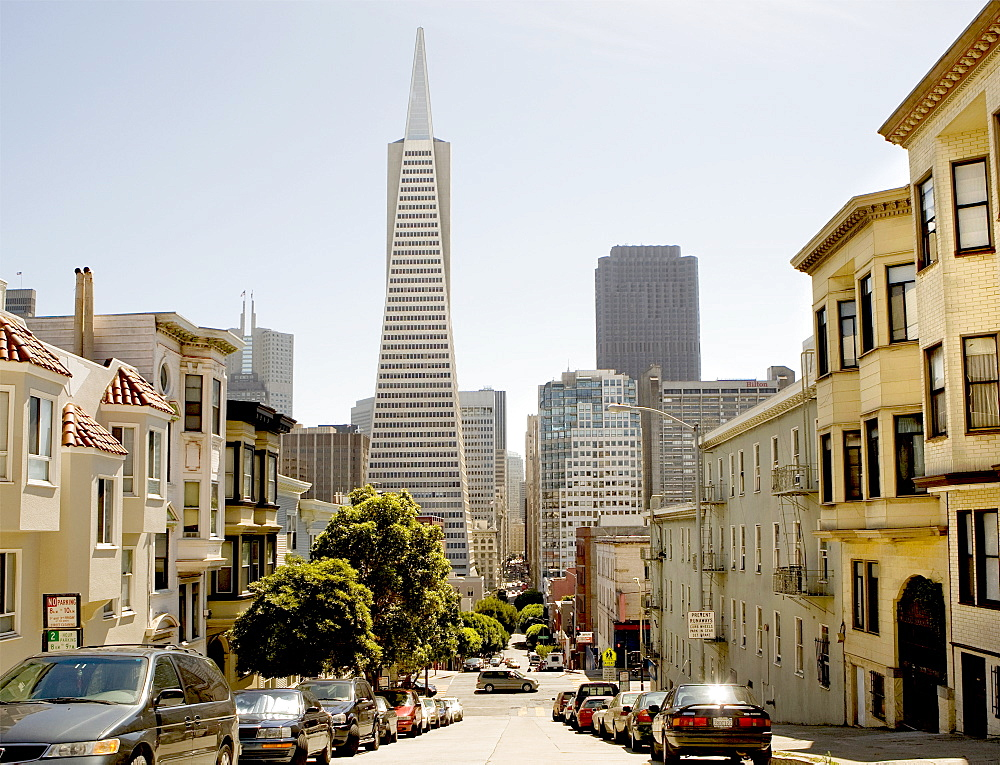 The Transamerica Tower Pyramid in the financial district of downtown San Francisco, California, United States of America, North America - 839-54