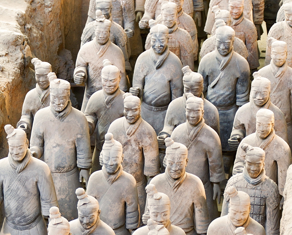 Terracotta warrior figures in the Tomb of Emperor Qinshihuang, Xi'an, Shaanxi Province, China - 839-57