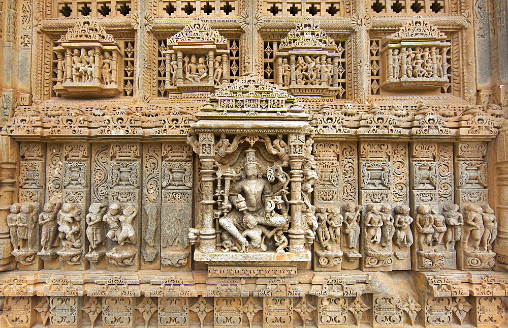 The Sas-Bahu Temples consisting of two temples and a stone archway with exquisite carvings depicting Hindu deities, near Udaipur, Rajasthan, India, Asia - 839-73
