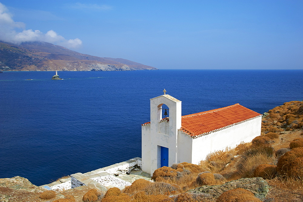 Chapel, Hora, Andros Island, Cyclades, Greek Islands, Greece, Europe - 841-1030
