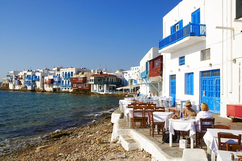 Ancient district of Alefkandra (Little Venice), Mykonos, Cyclades, Greek Islands, Greece, Europe