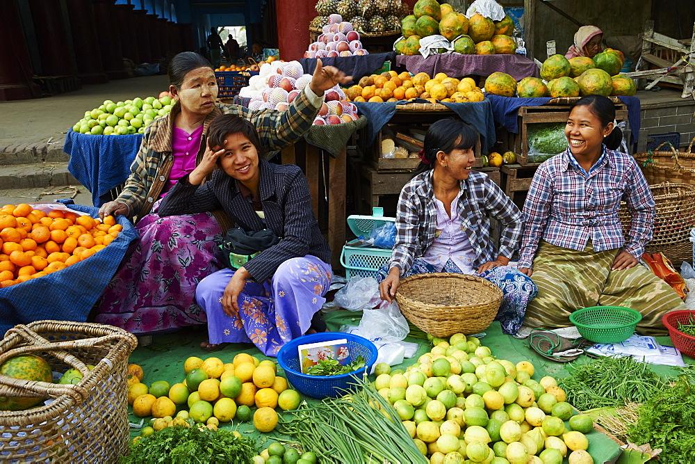 Local market, Mandalay, Myanmar (Burma), Asia - 841-1292