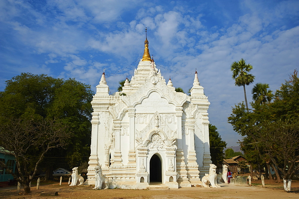 Paya Settawya temple, Mingun, Sagaing, Myanmar (Burma), Asia