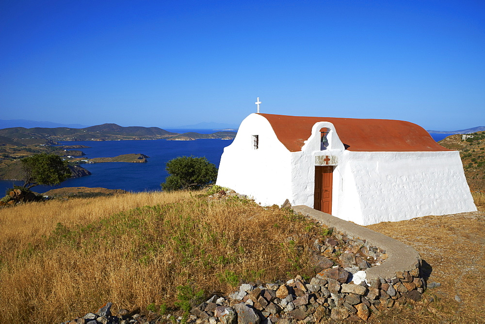 Small church, Patmos, Dodecanese, Greek Islands, Greece, Europe