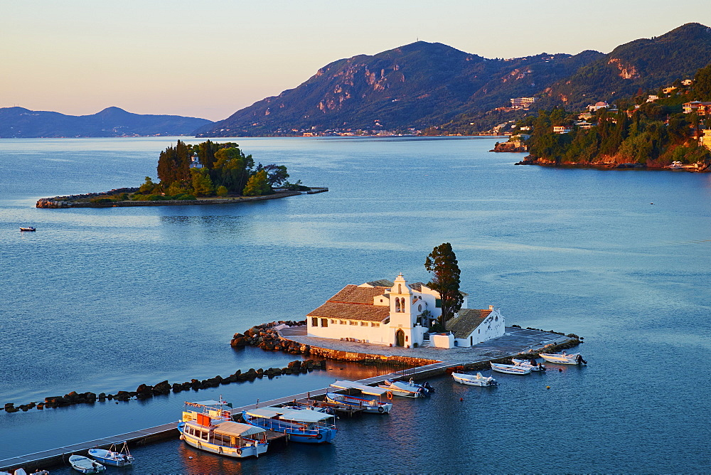 Vlacherna Monastery, Kanoni, Corfu, Ionian Islands, Greek Islands, Greece, Europe - 841-1427