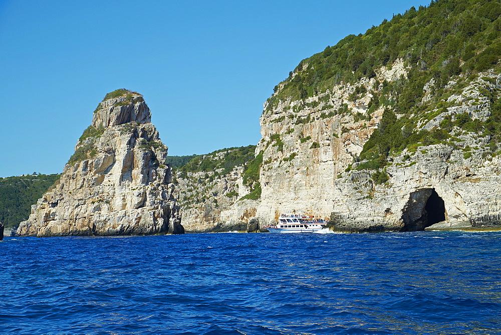 Ortholithos rock, Paxos, Paxi, Ionian Islands, Greek Islands, Greece, Euruope