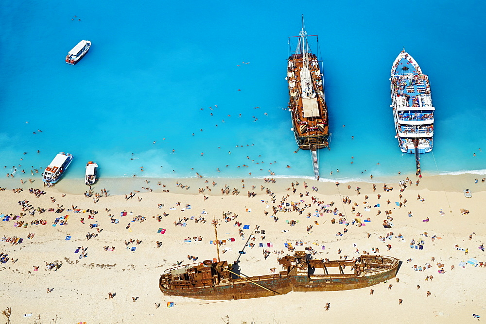 Shipwreck beach, Zante island, Ionian Islands, Greek Islands, Greece, Europe - 841-1462